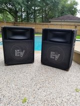 EV 200w PA Speakers (SH-1512ER) Pair $ 400 / EV 300w Floor Monitor (FM-1502ER) 1 only $200 in Kingwood, Texas