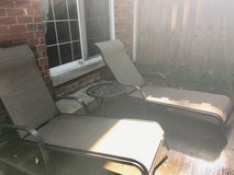Reclining lounge chairs and table in DeKalb, Illinois