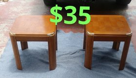 Pair of wood end tables$35 in San Bernardino, California