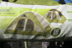 5 adults tent in Okinawa, Japan