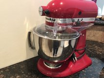 Kitchen Aid Artisan Red Tilt-Head Stand Mixer in Spring, Texas