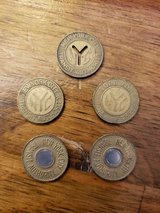 Vintage NYC Subway Tokens in 29 Palms, California