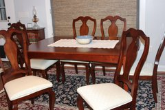 Dining table & chairs (6) in Beaufort, South Carolina