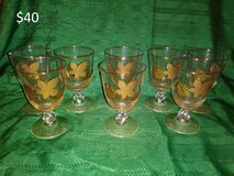 Vintage Gold Leaf Glassware in Yucca Valley, California