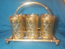 Vintage Culver Green Diamond 22k gold Signed Glassware in Yucca Valley, California