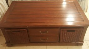 Coffee Table with storage, cherry finish in Plainfield, Illinois