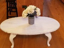 Distressed white coffee table in Oswego, Illinois