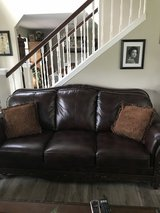 Ashley Brown Leather Couch and Loveseat in Fort Leonard Wood, Missouri