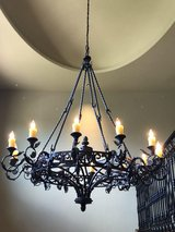 Grand Sized Mediterranean Style Light Fixture in Pearland, Texas
