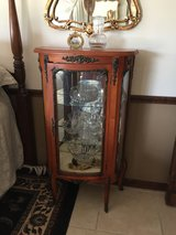 Antique French Wood & Brass China Cabinet in Fort Leonard Wood, Missouri
