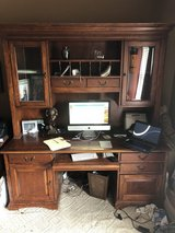 Massive Wood Desk w/ Glass Doors in Plainfield, Illinois