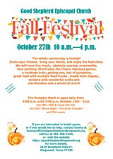 Good Shepherd Church Fall Festival in Houston, Texas