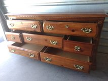 Solid wood dresser with 7 drawers in very good working condition in El Paso, Texas