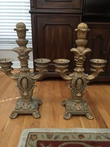 2decoative candelabras in Aurora, Illinois