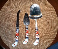 3 Piece Cheese Set with Porcelain Handles in Alamogordo, New Mexico