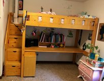 Loft Bed (twin) with Desk & Book case in Camp Lejeune, North Carolina