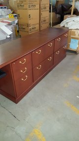 Executive / Professional Desk with Matching Credenza Office Furniture in Plainfield, Illinois