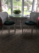 Wicker table and chairs in New Lenox, Illinois