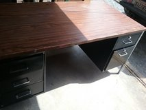 Metal Desk with Wood Top in DeRidder, Louisiana