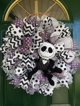 Jack Skelington Wreath in Plainfield, Illinois