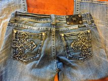 Miss Me distressed denim capri jeans size 29 EUC in Plainfield, Illinois