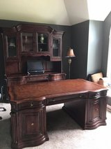 Hooker Furniture Executive Partner Desk, Credenza, and Hutch in Yorkville, Illinois