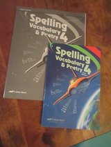 Abeka Spelling Grade 4 Teacher Test Booklet and student booklet in Camp Lejeune, North Carolina