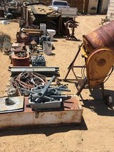 Machinery and vintage parts in Yucca Valley, California