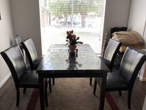 Glass Marble Top Dining Table for Sale in Lackland AFB, Texas