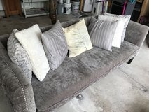 Beautiful stylish couch with pillows! in Glendale Heights, Illinois