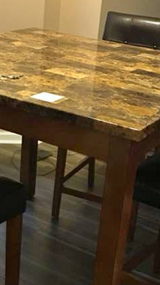 Granite pub table with 4 chairs in Morris, Illinois