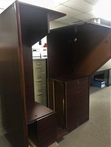 U Shaped Solid Wood Desk with lateral file cabinet in Kingwood, Texas