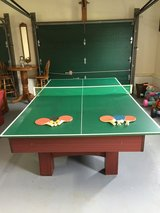 8' Pool Table with Wall Cabinet included; Interchangeable Ping Ping top in Cherry Point, North Carolina