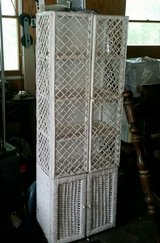 White wicker cabinet in Fort Leonard Wood, Missouri