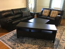 Living Room Set: couch, love seat, coffee table and tv stand in Camp Lejeune, North Carolina