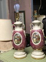 Pair of Vintage Porcelain Victorian Table Lamps in Travis AFB, California