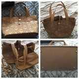 New camel colored purse+pouch, never used, nice! in Chicago, Illinois