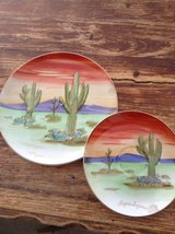 desert painted plates in 29 Palms, California
