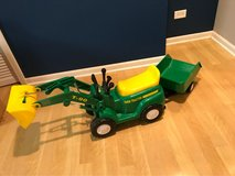John Deere ride-on tractor & trailer in Naperville, Illinois