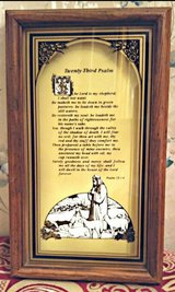 "Vintage ""23 Psalm"" Framed In A Solid Wood Shadow Box Frame in Fort Bragg, North Carolina"
