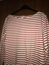 J Crew red striped top in Hohenfels, Germany