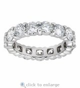 TODAY***BRAND NEW***5 CTTW CZ Eternity Ring***SZ 9 in Cleveland, Texas