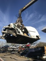 Scrap cars in Lakenheath, UK