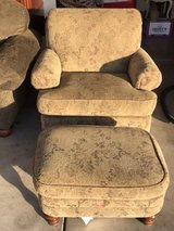 Chair with ottoman in Yorkville, Illinois