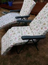 Garden loungers in Lakenheath, UK
