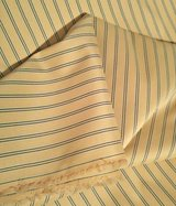 13 1/2 Yards of Yellow & Green Striped Waterproof Cotton Blend Fabric in Fort Bragg, North Carolina
