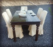 rustic dining room table with 6 chairs in Wiesbaden, GE