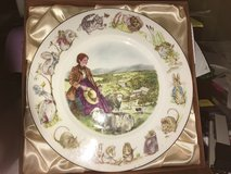 Beatrix Potter Commemorative Plate in Lakenheath, UK