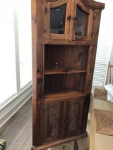 Corner cabinet solid wood in Spring, Texas