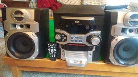 Bookshelf stereo with 5 CD changer and remote in Lockport, Illinois